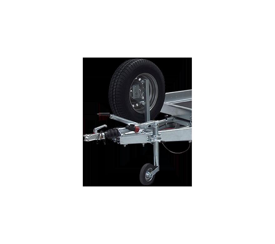 Porte-roue de secours sur flèche