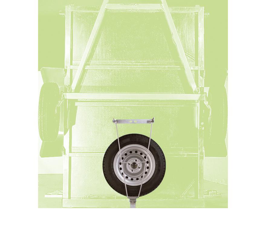 Porte-roue de secours sous châssis
