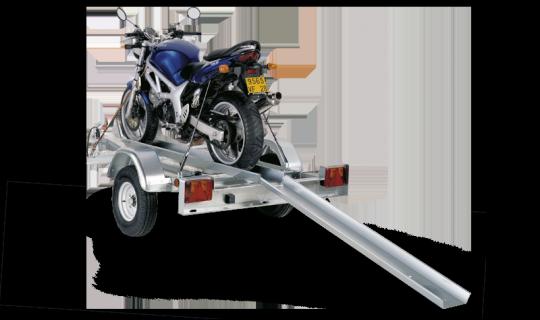 Vue arrière de la remorque PM1N de la gamme Porte moto et quad Sorel